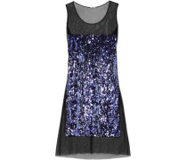 Sequin-embellished Cotton-tulle Midi Dress Violet