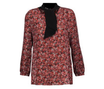 Elick pussy-bow printed silk crepe de chine blouse