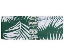 Sunset printed bandeau bikini top