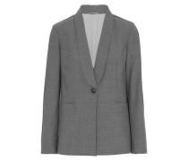 Bead-embellished wool-blend blazer