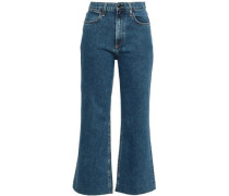 Cropped High-rise Kick-flare Jeans Mid Denim  3