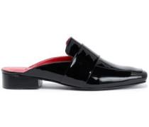 Filiskiye Leather Slippers Black