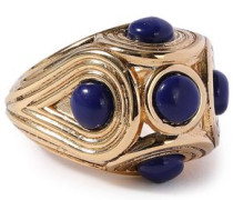 Gold-plated Lapis Lazuli Ring Gold  2