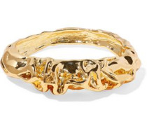 Hammered Gold-plated Bangle Gold Size --