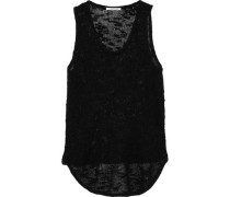Burnout-effect Silk Tank Black
