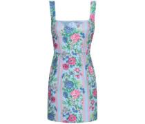 Judita Floral-print Cloqué Mini Dress Light Blue