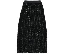 Crocheted Cotton Midi Skirt Black
