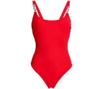 Embellished Swimsuit Red