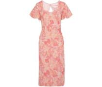 Cutout jacquard dress