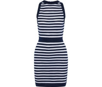 Striped Knitted Mini Dress Navy