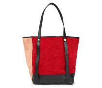 Andy color-block suede tote