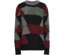 Jeany Color-block Alpaca-blend Sweater Multicolor