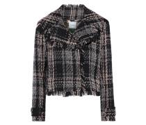 Cropped Cotton-blend Tweed Jacket