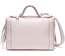 Studded Textured-leather Shoulder Bag Baby Pink Size --