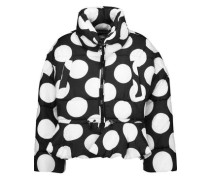 Polka-dot quilted shell jacket
