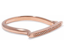 Skinny Stacking 18-karat rose gold-plated sterling silver diamond ring