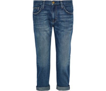 Cropped Low-rise Straight-leg Jeans Mid Denim  6