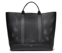 Woman Georgica Extra-large Perforated Leather Tote Black