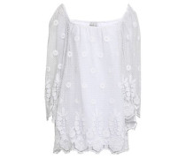 Cotton Lace Coverup White