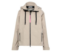 Woman Shell Hooded Jacket Neutral