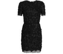 Floral-appliquéd lace midi dress