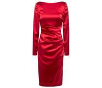 Woman Sonett Ruched Duchesse Satin Dress Claret
