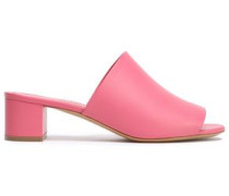 Leather Mules Bubblegum