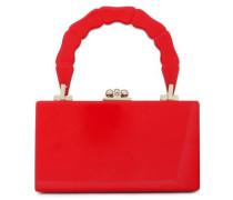 Jean Acrylic Box Clutch Red Size --