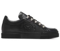 Leather Slip-on Sneakers Black