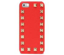 Rockstud textured-leather iPhone 5 case