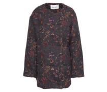 Alina Printed Cotton-jacquard Jacket Charcoal