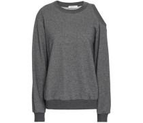Cutout French cotton-terry sweatshirt