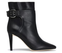 Major buckled leather ankle boots
