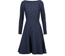 Pleated cloqué dress