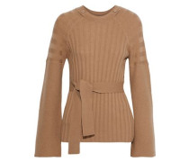 Dorise Ribbed Wool And Cashmere Blend Sweater Camel