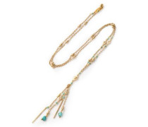 Gold-tone and bead necklace