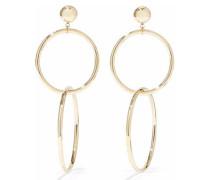 Razia 18-karat Gold-plated Sterling Silver Hoop Earrings Gold Size --