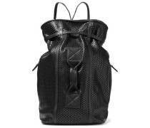 Laser-cut leather backpack
