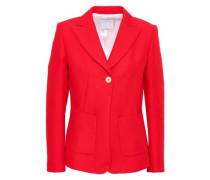 Cotton-blend Blazer Red