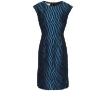 Woman Cotton-blend Jacquard Dress Royal Blue