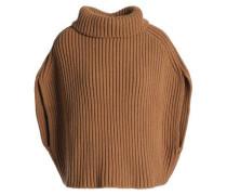 Ribbed wool-blend turtleneck sweater