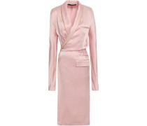 Satin-crepe Wrap Dress Baby Pink