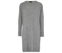 Cutout velvet-trimmed mélange wool and cashmere-blend mini dress