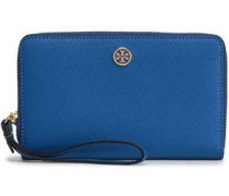 Textured-leather Wallet Royal Blue Size --