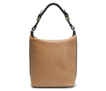 Textured-leather Tote Light Brown Size --