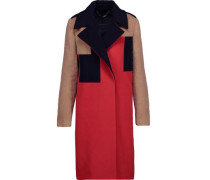 Rollins paneled color-block wool and cashmere-blend coat