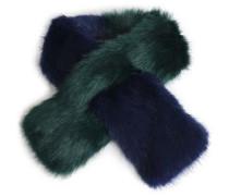 Two-tone faux fur scarf