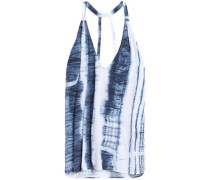 Cutout tie-dye jersey camisole