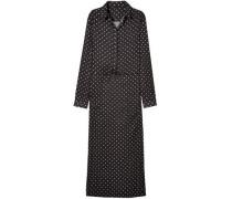 Polka-dot Crepe Dress Black