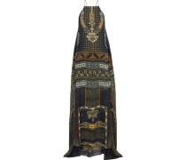 For The Love Of Lhasa embellished printed silk-chiffon maxi dress